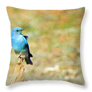Lil Bird Of Happiness Throw Pillow