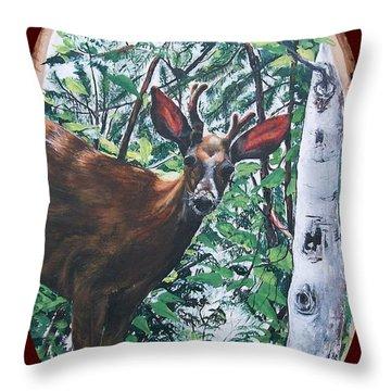 Li'l Buck  Throw Pillow