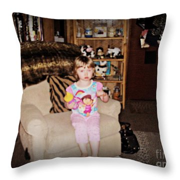 Lil Jojo Throw Pillow