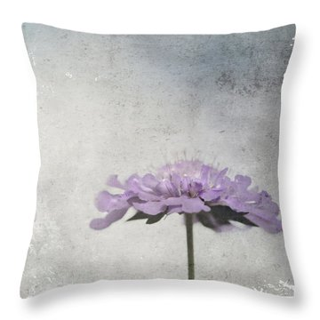 Throw Pillow featuring the photograph Lilac by Annie Snel