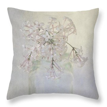 Throw Pillow featuring the photograph Lilac Flower by Annie Snel