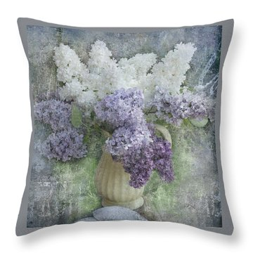 Lilac Throw Pillow by Jeff Burgess