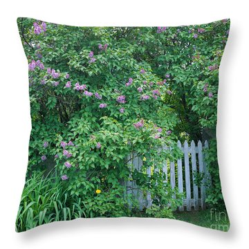Throw Pillow featuring the photograph Lilac Season by Alan L Graham