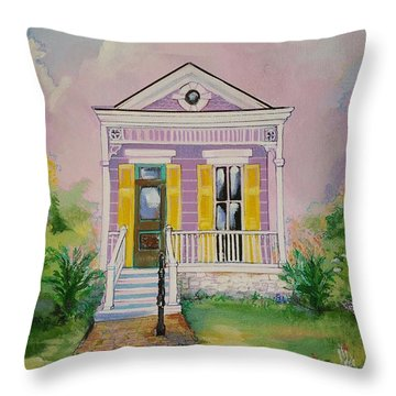 Lilac Shotgun Throw Pillow