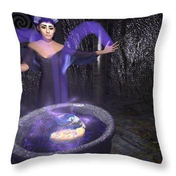Lilac Sorceress Earth Healing Throw Pillow