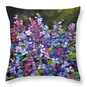 Lilac_burst_by_prankearts Throw Pillow by Richard T Pranke