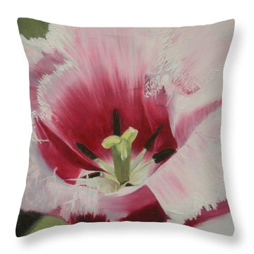 Lilicaea Tulipa Throw Pillow by Claudia Goodell