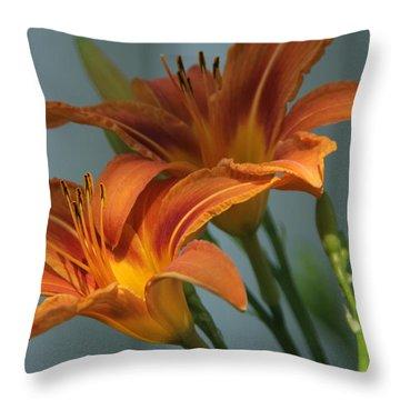 Lilies 1 Throw Pillow