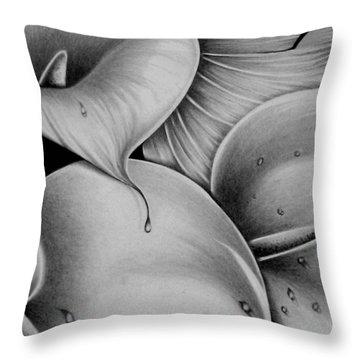Lilies 3 Throw Pillow