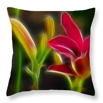 Lilies-6340-fractal Throw Pillow by Gary Gingrich Galleries