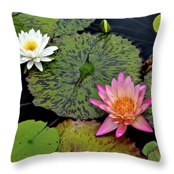 Lilies And Pads Throw Pillow