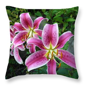 Throw Pillow featuring the photograph Lilies Of The Field by Lingfai Leung