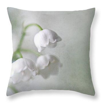 Lilies Of The Valley Throw Pillow by Annie Snel