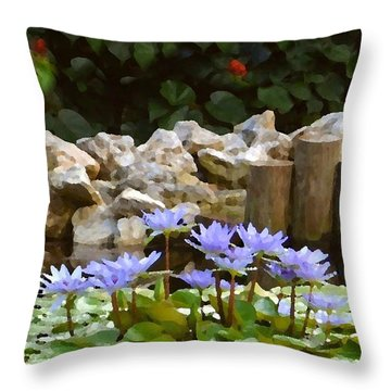 Lilies On The Pond Throw Pillow
