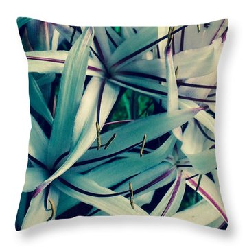 Throw Pillow featuring the photograph Lilies-process by Alohi Fujimoto