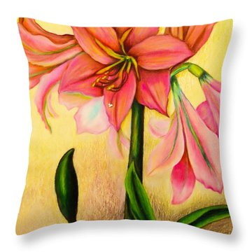 Lilies Throw Pillow by Zina Stromberg