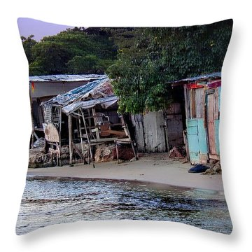 Liliput Craft Village And Bar Throw Pillow