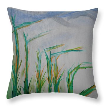 Lillies Of The Creek Throw Pillow