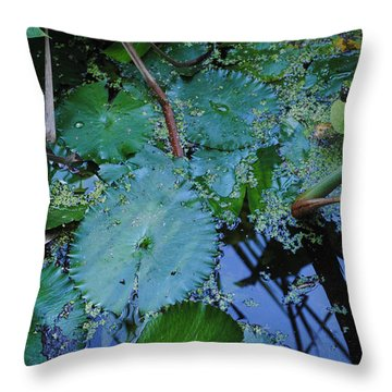 Lillies Of The Garden Throw Pillow