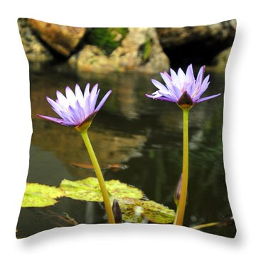 Lillies Of The Pond Throw Pillow