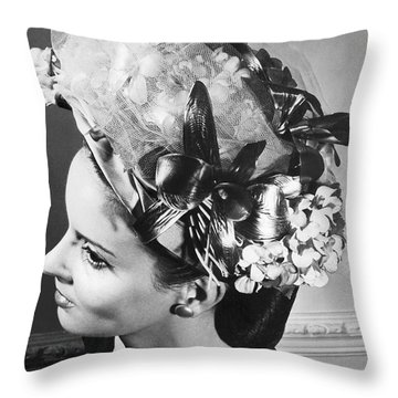 Lilly Dache Hat Throw Pillow