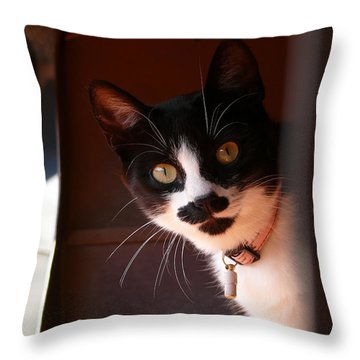 Throw Pillow featuring the photograph Lilly by Evelyn Tambour