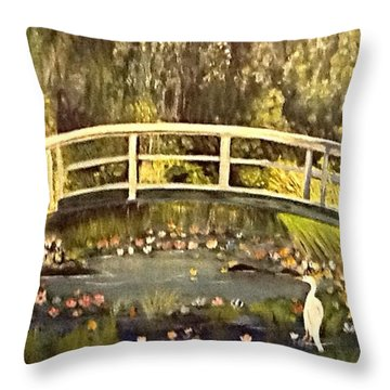 Lilly Pads Throw Pillow by Catherine Swerediuk