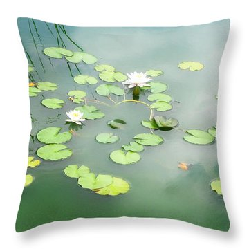 Throw Pillow featuring the photograph Lilly Pads by Erika Weber