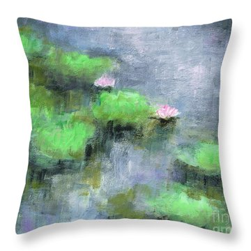 Water Lilly's  Throw Pillow by Frances Marino