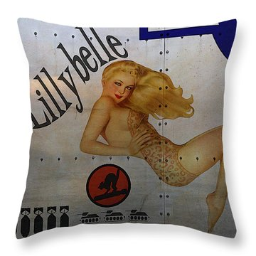 Lillybelle Nose Art Throw Pillow by Cinema Photography