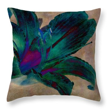 Lily 9 Throw Pillow by WB Johnston