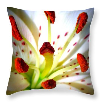 Lily Center Throw Pillow