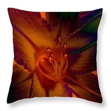 Throw Pillow featuring the photograph Lily Colors by WB Johnston