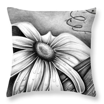 Lily Flower Throw Pillow
