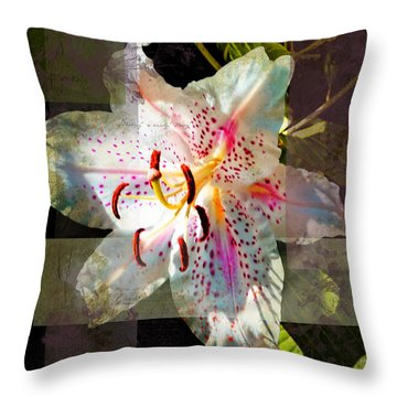Lily From Whitefish Point Michigan Throw Pillow