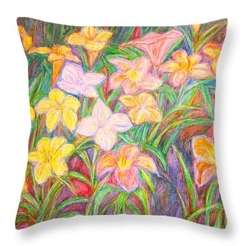 Lily Glow Throw Pillow by Kendall Kessler