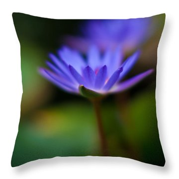 Lily Glow Throw Pillow by Mike Reid