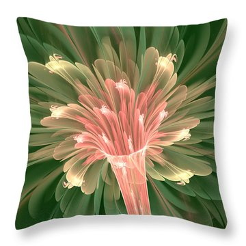 Lily In Bloom Throw Pillow by Svetlana Nikolova