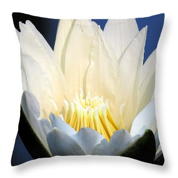 Lily In Blue Throw Pillow