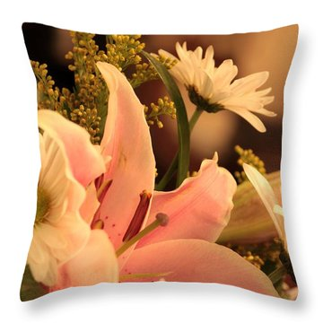 Lily In Pink Throw Pillow