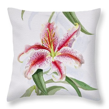 Lily Throw Pillow by Izabella Godlewska de Aranda