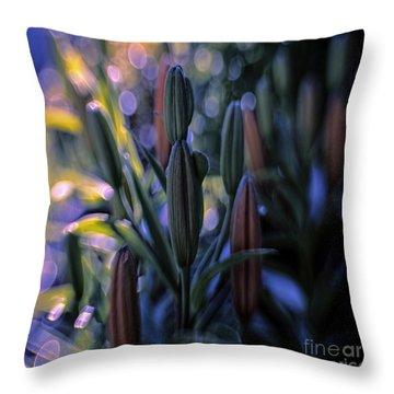 Lily Light Throw Pillow by Jean OKeeffe Macro Abundance Art