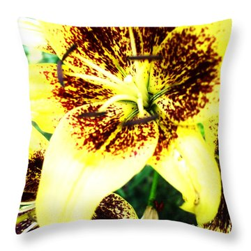 Throw Pillow featuring the photograph Lily Love by Shana Rowe Jackson