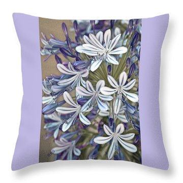 Lily Of The Nile Throw Pillow by Ben and Raisa Gertsberg