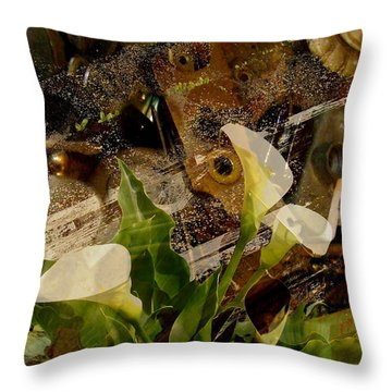 Lily Of The Scrap Pile Throw Pillow