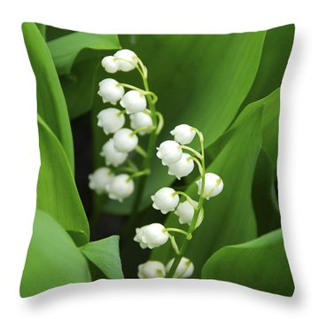 Lily-of-the-valley  Throw Pillow