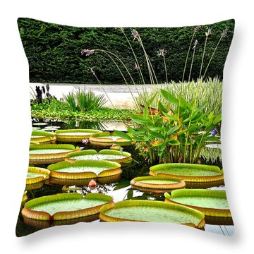 Lily Pad Garden Throw Pillow