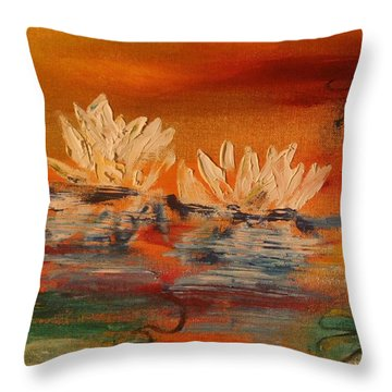 Lily Pad Throw Pillow by PainterArtist FIN