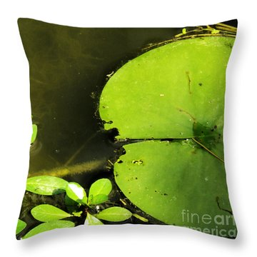 Lily Pad Throw Pillow