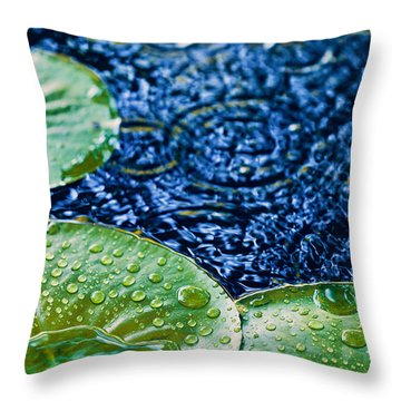 Lily Pads Throw Pillow by Debi Bishop